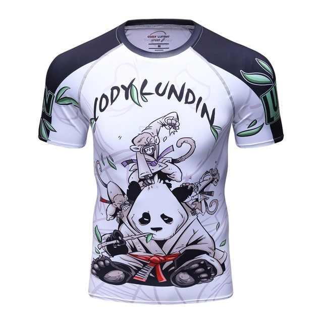2019 جديد BJJ Rashguard تي شيرت الرجال ضغط قميص MMA اللياقة البدنية العضلات UFC مكافحة كبار الملاكمة التايلاندية تيز جيو جيتسو ضيق ملابس النوم