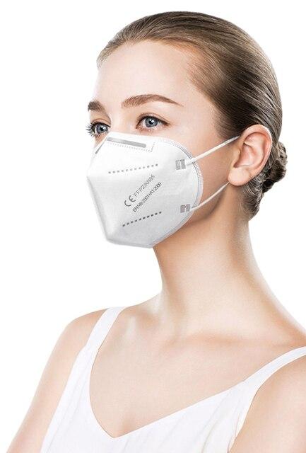 10-200 PCS face mask FFP2 facial masks KN95 filter masks mask maske Mouth mask anti dust mask protect mascaras mascarilla 5