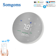 WiFi Smart Heat Pump 24V Thermostat Temperature Controller Smart Life/Tuya APP Remote Control,Works with Alexa Google Home цена