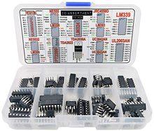 IC Assortment Hộp 75 Pcs, PC817c, NE555, LM358, LM324, JRC4558D, LM393, LM339, NE5532, LM386, PT2399, TDA2822, TDA2030A, UC3842A