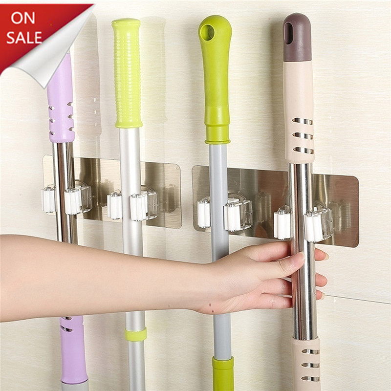 Strong Wall Hook Multi-Purpose Hooks Key Holder Hanger Kitchen Bathroom Hooks Crochet Suction Cup Nail-free Mop Clip Card Holder