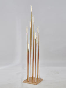 Candelabra Table Centerpiece Flower Acrylic Metal Home-Decor Wedding 10PCS for 8-Heads