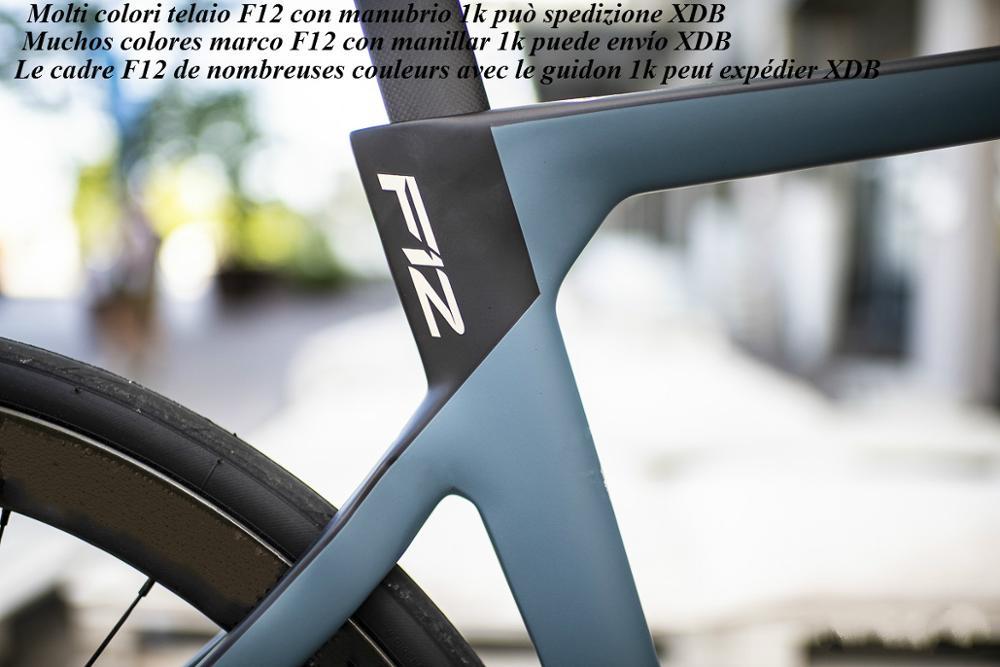 2020 New Model T1100 Carbon Road Bike F12 Frame With 1k Handlebar Bicycle Carbon Frames V Brake Or Disc Brake Can XDB Shipping