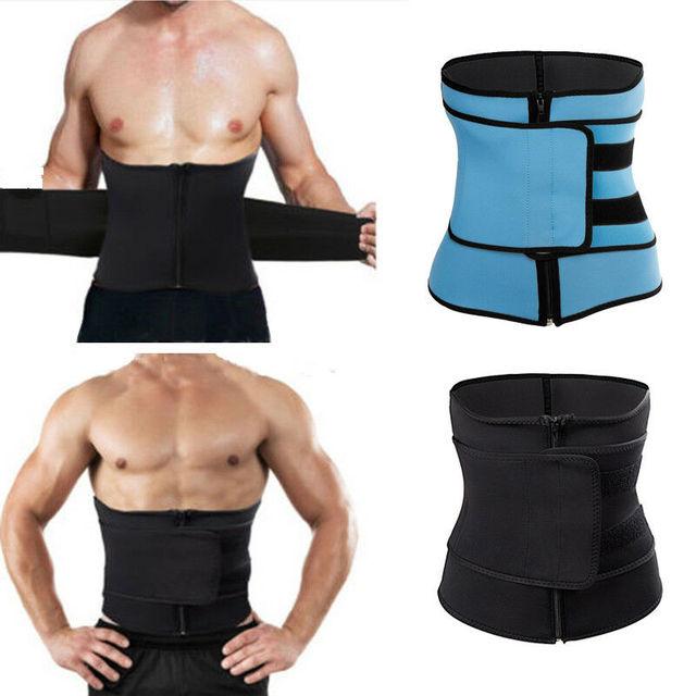 Stomach Slimming Hot Exercise Belts Fat Burner Waist Body Shaper Fashion Zipper Bandage Tight Belts Sports Slimming Body Belts 3