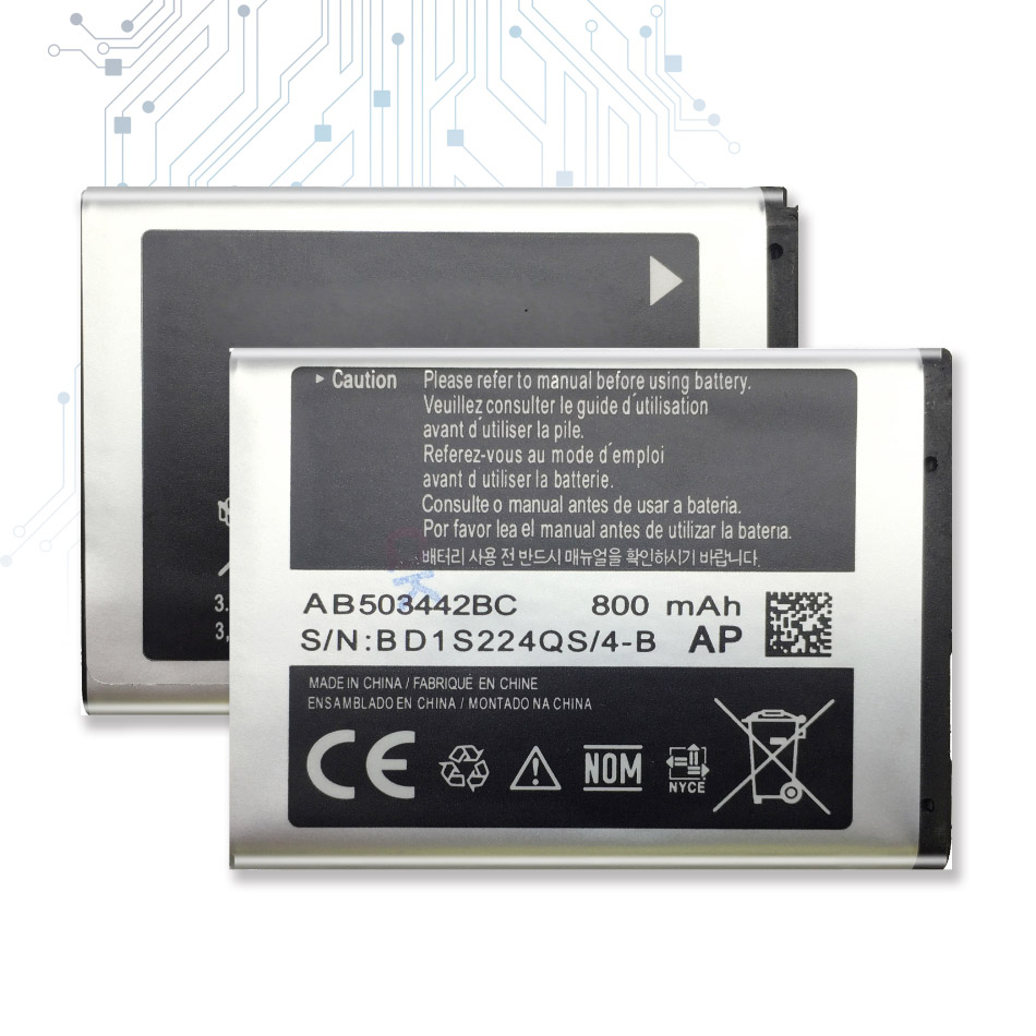 Battery for <font><b>Samsung</b></font> SGH-B110 <font><b>E570</b></font> E578 J700 J700i J700v J708 E578 J700 J708i J708 T509 Battery AB503442BC with Track Code image