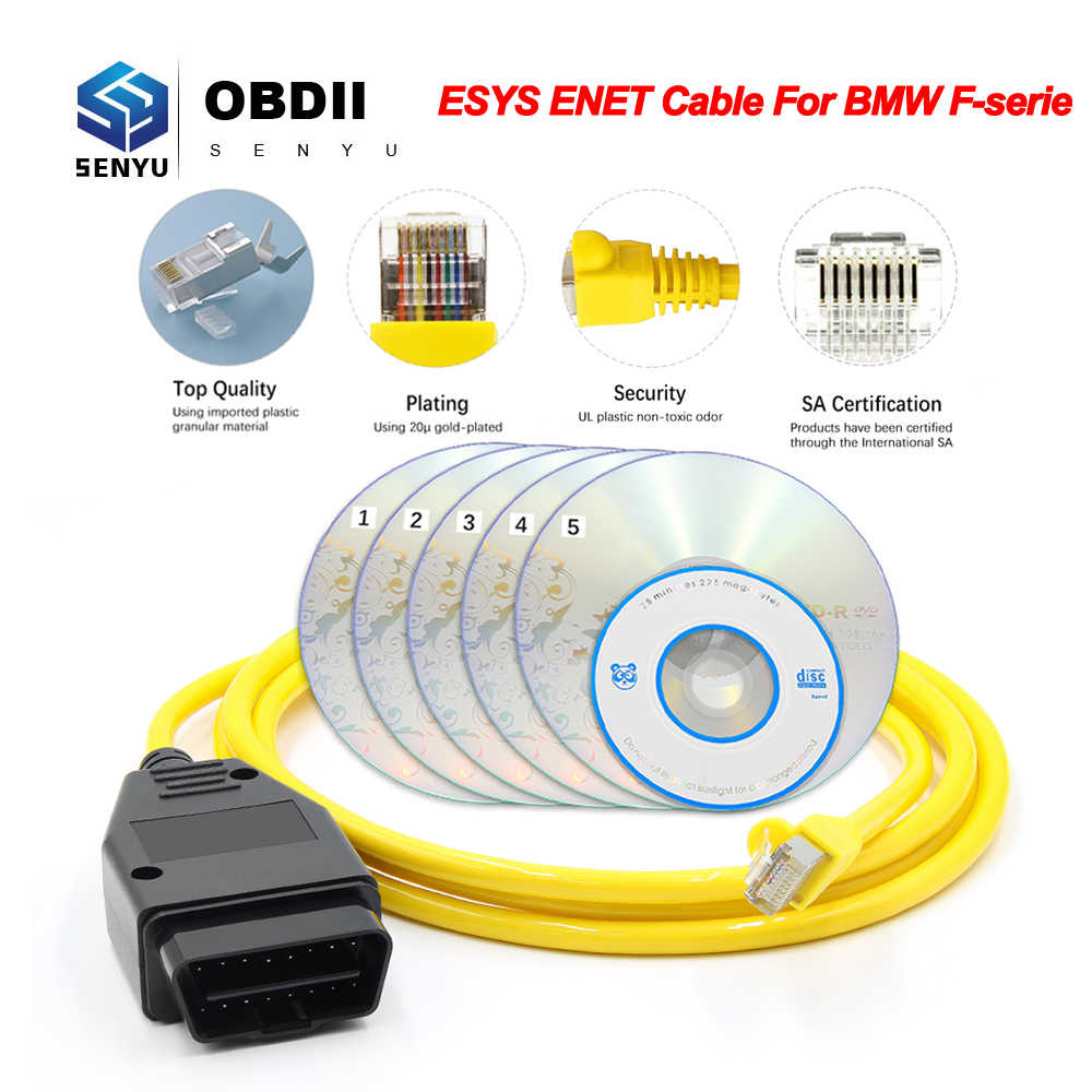 ESYS ENET สำหรับ BMW F-Serie REFRESH ซ่อนข้อมูล E-SYS ICOM Coding ECU Programmer OBD OBD2 เครื่องสแกนเนอร์วินิจฉัยอัตโนมัติเครื่องมือ