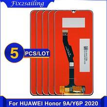Bloc écran tactile LCD de remplacement, 6.3 pouces, avec châssis, pour Huawei Y6P 2020 Honor 9A, 5 pièces