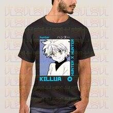 Mais novo 2020 verão japão anime hunter x hunter silva zoldyck logo100 % algodão camiseta presente homme topos tees S-4XL
