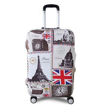 TRIPNUO grubszy bagaż ochronny pokrowiec na walizki na kółkach 18-32 Cal wodoodporne walizki elastyczne tanie i dobre opinie Poliester 20inch 26inch G1116 0 25kg Klapy Bagażnika Polyester Patchwork