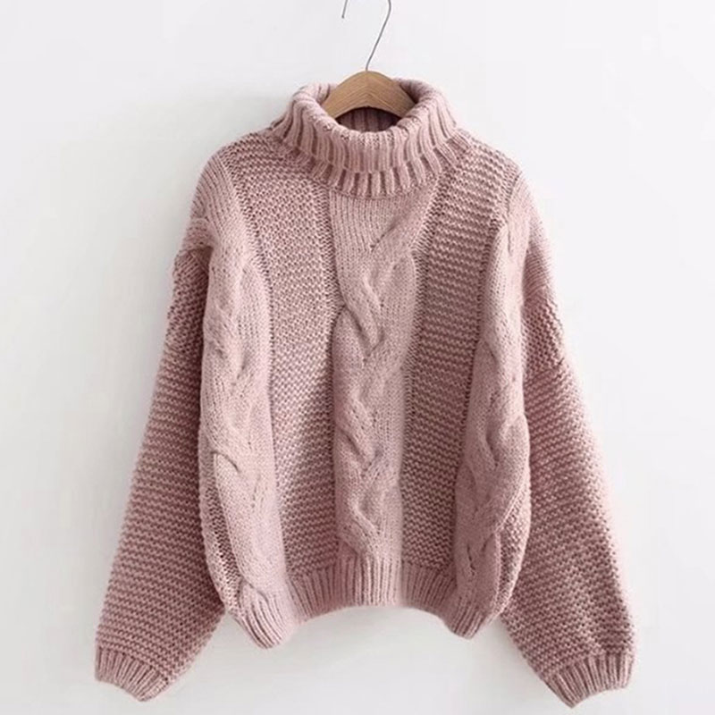 Autumn Winter Knitted Sweater Women's Fashion Sweater Basic Female Pullover Batwing Sleeve Solid Femme Casual Knitted Streetwear