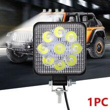 цена на Car Truck 12V/24V LED White Flood Work Light Square/Round Floodlight Fog Lamp Off-Road Marine Driving Bulb Flood Beam Work IP67