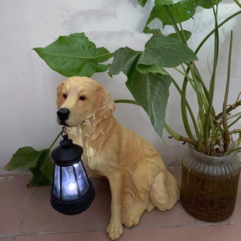 Home Garden Decoration Outdoor Too Light Lamp Garden Garden Decoration Resin Animal Simulation Puppy Decoration M2953|Garden Statues & Sculptures| |  - title=