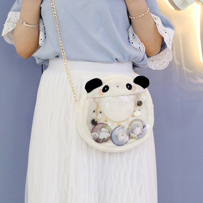 Super Cute Cartoon Slanted Plush Transparent Ita Bag Shoulder Bags Handbag Messenger Bag Anime Bag Cosplay