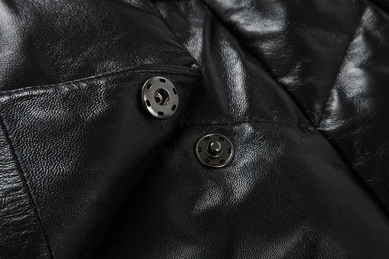 Vison fourrure col réel en cuir véritable veste femmes vêtements 2020 coréen Vintage automne hiver en peau de mouton bas manteau hauts AR15D5399