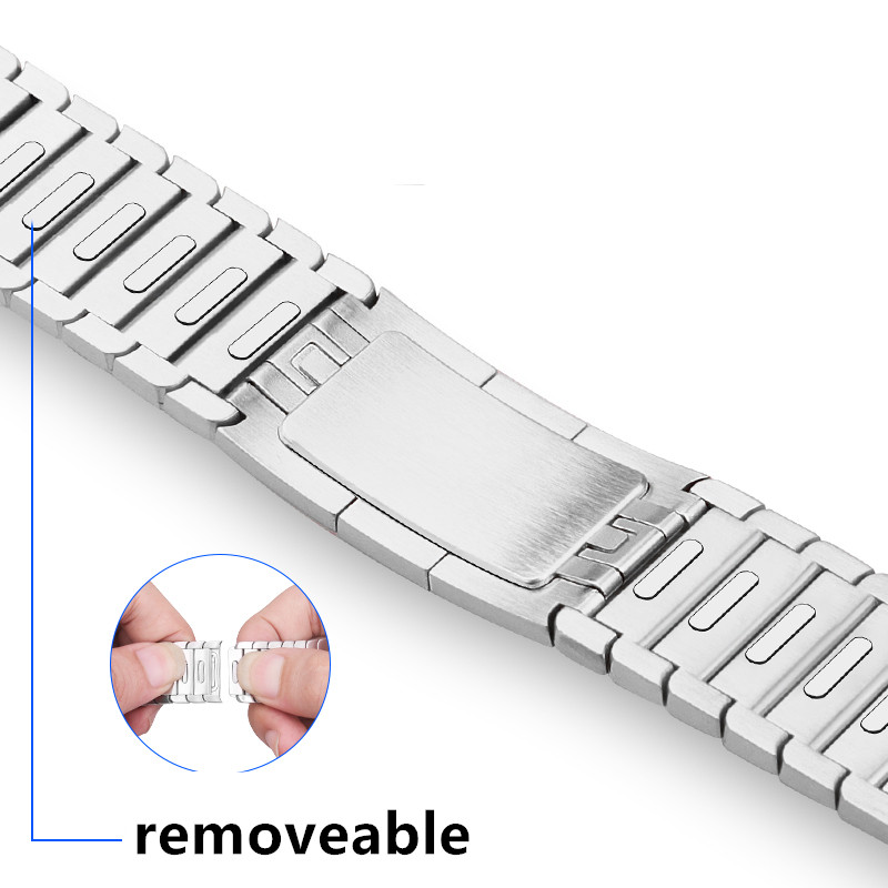 Bracelet Watchband Link Metal-Strap Series Stainless-Steel 40mm 44 for 44-Mm 42mm 38mm
