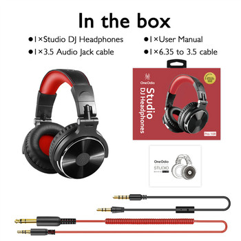 Oneodio DJ Headset Gaming With Microphone Phone PC Wired Over-ear Hifi Studio DJ Headphone Professional Stereo Monitor Urbanfun 6