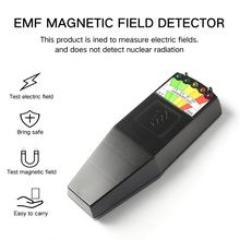 K2 Electromagnetic Field EMF Gauss Meter Ghost Hunting Detector Portable EMF Magnetic Field Detector 5 LED Gauss Meter(China)