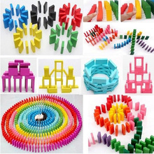 2020 Hot Sale 120 Pcs Lot Board Game For Kids Gift Wooden Domino Set Painting Children Toys Wooden Toys Dominos Blocks Game Toys