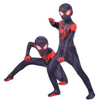 New Miles Morales Far From Home Cosplay Costume Zentai Spider- Superhero Bodysuit Spandex Suit for Kids Custom Made