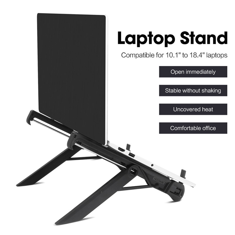 Image 2 - laptop holder monitor macbook notebook stand accessories portable base support-in Laptop Stand from Automobiles & Motorcycles