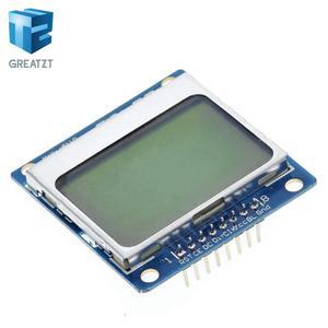 Image 4 - الالكترونيات الذكية وحدة lcd شاشة عرض الأزرق الخلفية محول PCB 84*48 84x84 lcd 5110 نوكيا 5110 شاشة لاردوينو