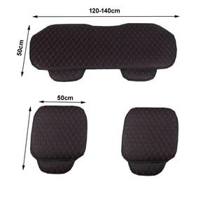 Image 5 - Araba koltuğu kapakları otomobiller emniyet koruma yastığı tam Set PU deri evrensel oto iç aksesuarları Mat Pad araba styling