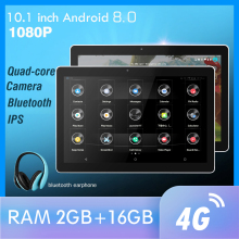 10.1 Inch Android Auto Hoofdsteun Monitor Ram 2Gb 1080P Video Ips Touchscreen 4G Wifi/Bluetooth/Usb/Sd/Fm MP5 Video Speler Met Dc
