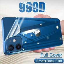 folia hydrożelowa na całą okładkę do iPhone 11 12 Pro MAX mini folia na wyświetlacz do iPhone 7 8 6 6s Plus XS XR X SE 2020 protetores de tela nie szkło akcesoria do telefonów komórkowych