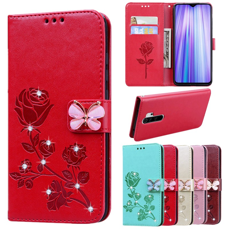 Xiaomi Redmi Go 6A 7A 8A S2 K20 Note 5A Prime 4X 5 6 7 8 8T 9 S Pro 9S Bling PU Flip Leather Wallet Stand Phone Cover Case