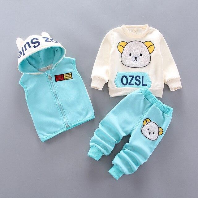 Next Baby's Cute Plush Vest, Sweatshirt and Pants 3 Pcs Set 4