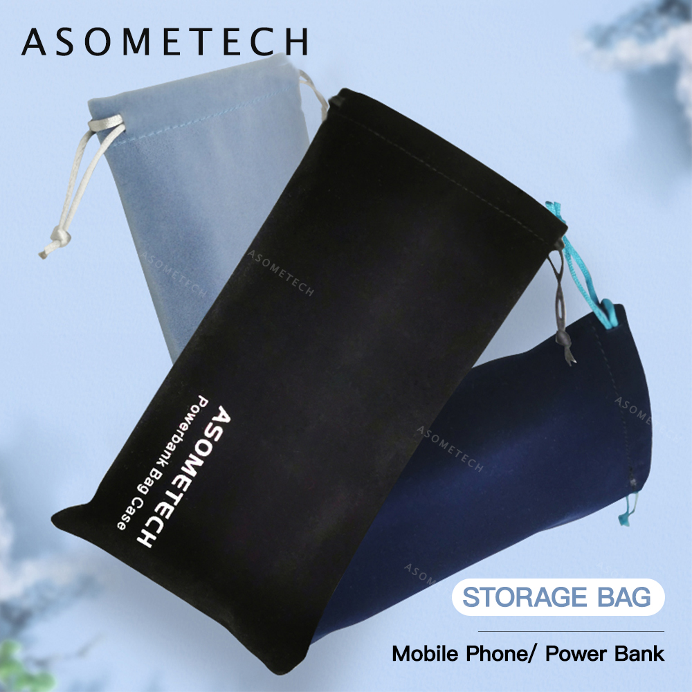 Power Bank Case Bag Carring Pouch Drawstring Bag Travel Portable Protective Storage Bag For Power Bank Mobile Phone Accessories
