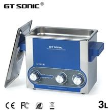 GTSONIC Ультразвуковой очиститель ванны 3л мощность регулируемая 30-100 Вт ювелирные кольца часы-очки Маникюр протез инструмент для ожерелья запчасти