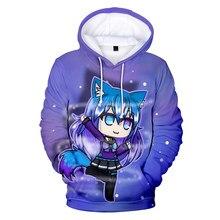 Novelty Printed Game Gacha Life Hoodie 3D Sweatshirts Men Women Spring Autumn Fashion Sportswear Kids Anime Cute Clothes Kawaii