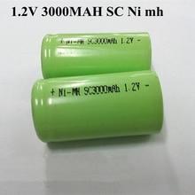 15 Pcs NIMH SC 1,2 V 3000mAh Hohe Rate Wiederaufladbare Sprech Diy Batterie Pack für Kehrmaschine Vakuum