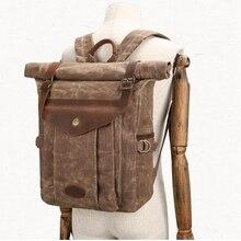 Men Laptop Backpacks For Male Preppy Style School Bag Cover Travel Backpack Leather Crazy Horse leather backpack men vintage цена 2017