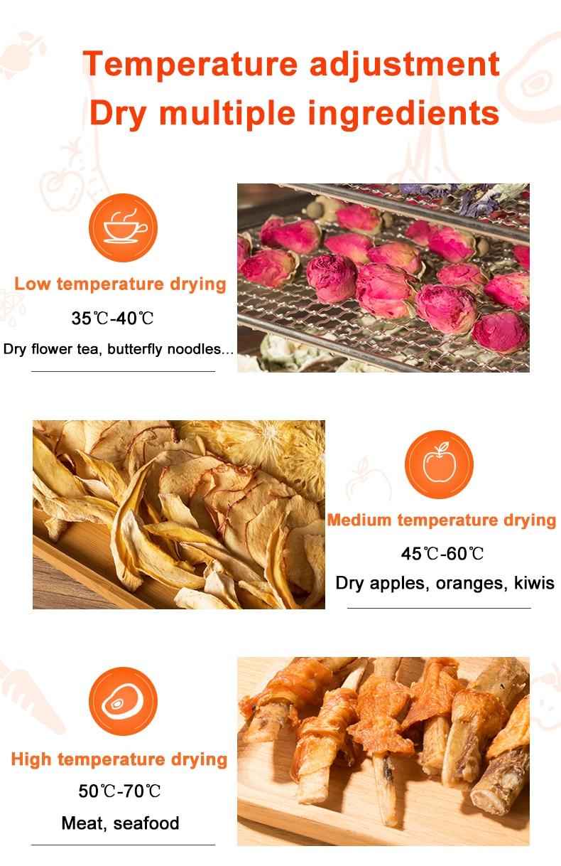 vegetal aço inoxidável erva carne máquina de secagem