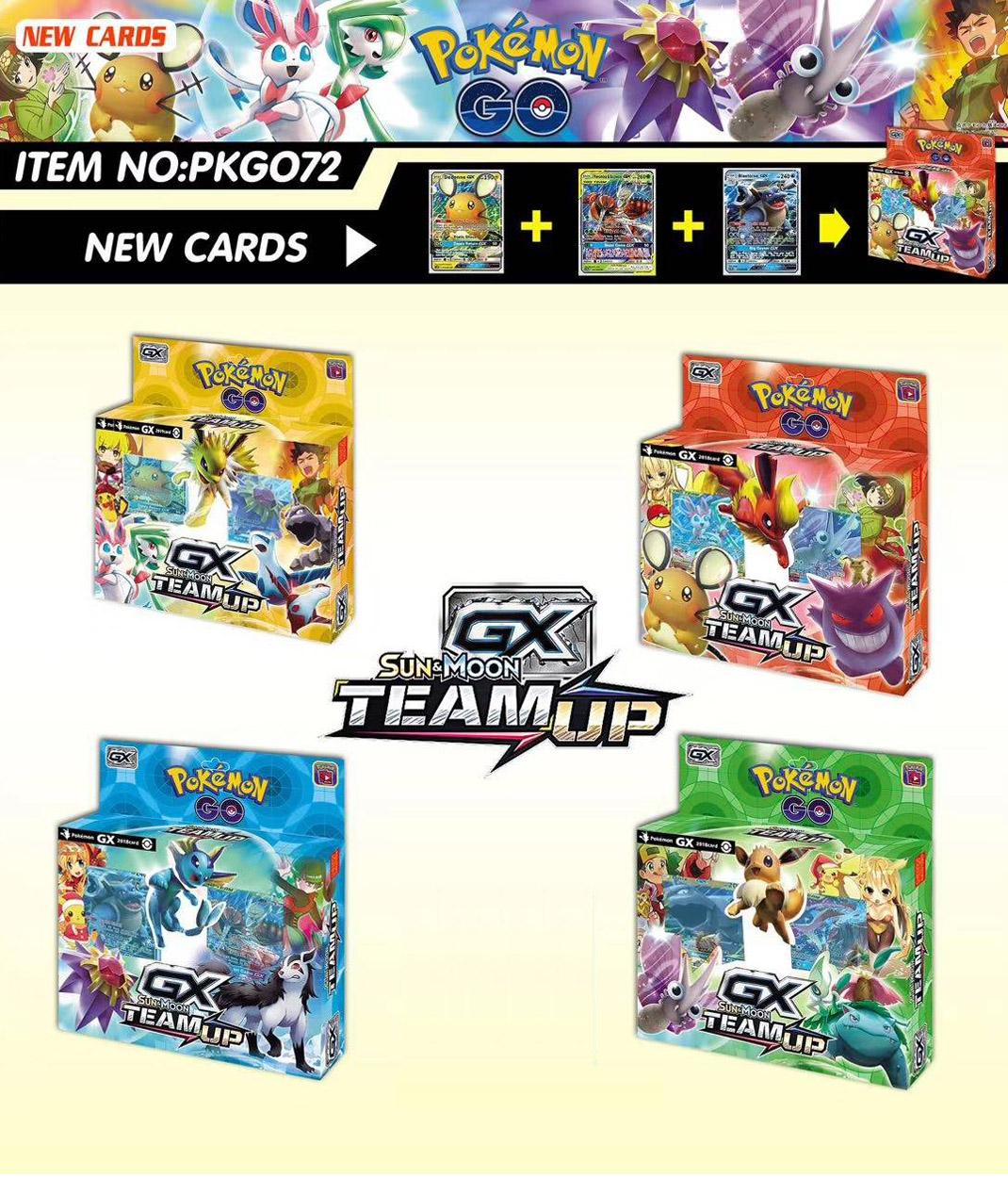 56 Cards Per Box New POKEMON Card English Version Pokemon Sm11 Ptcg Battle Collection Card Box Kids Toy Gift