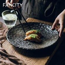 Креативная круглая тарелка fancity большие размеры простые искусственные
