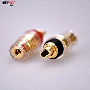 Image 4 - HIFIDIY canlı DIY hoparlör terminal konnektörü bağlama sonrası HIFI amplifikatör saf bakır altın kaplama muz soket bağlantı kutusu M8 l8
