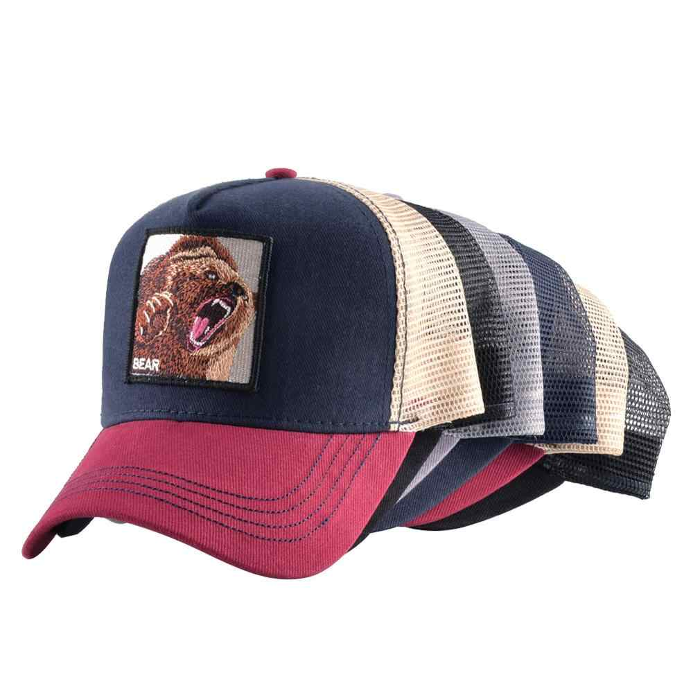 حار بيع قبعة بيسبول للنساء الصيف كاب رياضي شبكة الرجال التطريز عظام الحيوان الهيب هوب قبعة عادية القطن قبعة drop shiopping