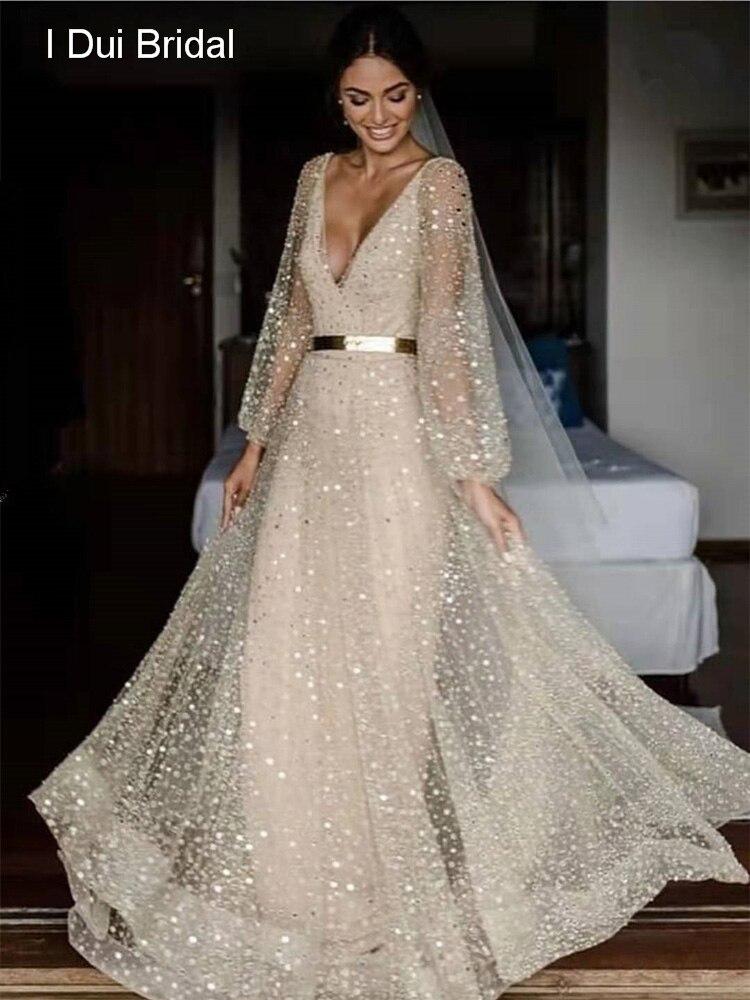 Sequin Bridal Dress