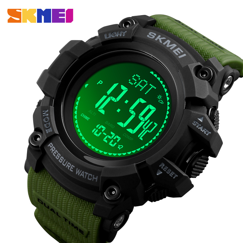 SKMEI Men's Sports Watches S SHOCK Military Compass Pedometer Calories Men Watch Digital Waterproof Electronic Wristwatches Male