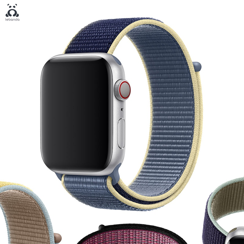 Lebanda Sport Loop For Apple Watch 5 4 3 2 1 Band For Iwatch Strap 38 40 42 44mm Woven Nylon Band 2019 Alaskan Blue
