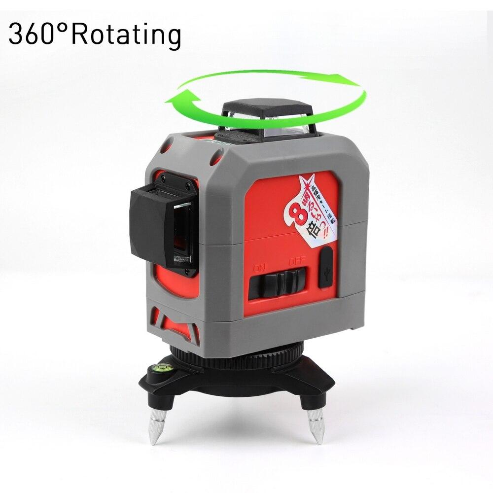 3D лазерный уровень 12 линия автоматическое выравнивание 360 градусов самонивелирующийся водонепроницаемый лазерный уровень со штативом стр