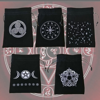 Velvet Tarot Oracle Card Storage Bag 13*18cm Witch Fortune-Telling Tarot Card Storage Case Practise Divination Accessories image