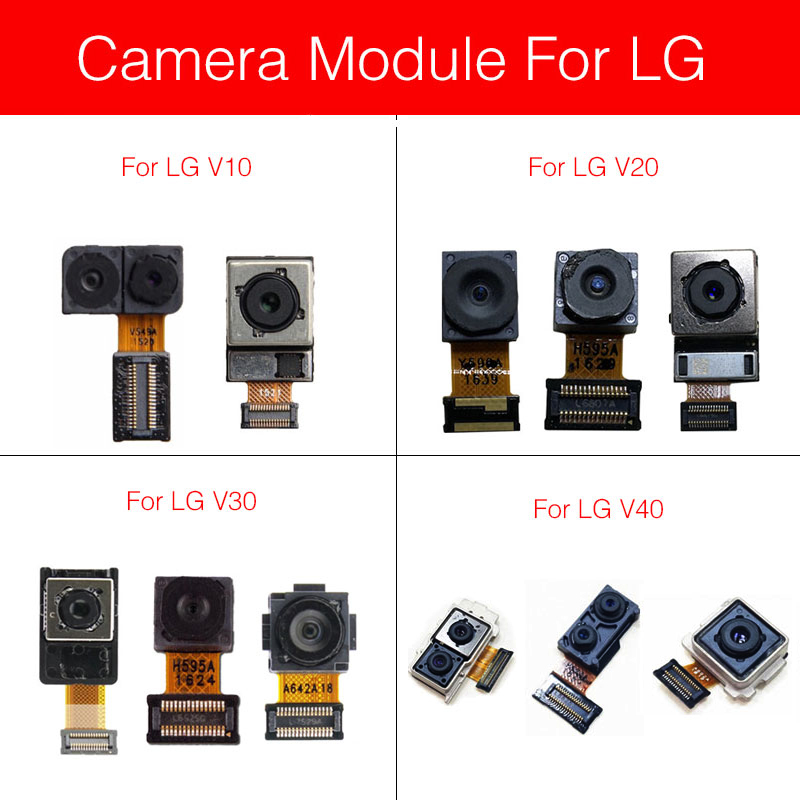 Front & Rear Camera Module For LG V10 V20 V30 V40 Main Back Big And Facing Small Camera Flex Ribbon Cable Replacement Repair
