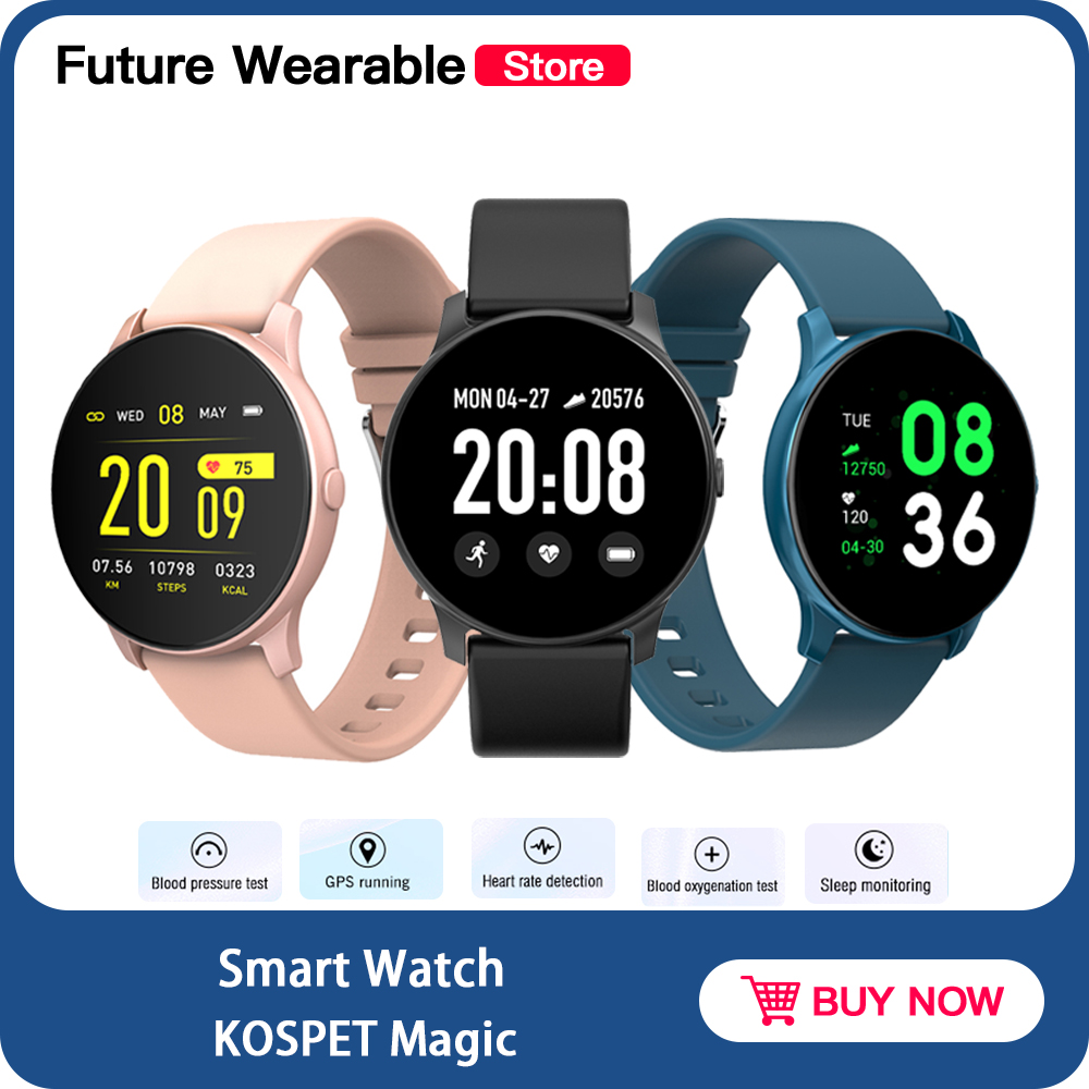 KOSPET Magic <font><b>Smart</b></font> <font><b>Watch</b></font> Heart rate Monitor Message Reminder Pedometer Multi-language <font><b>KW19</b></font> <font><b>Women</b></font> Smartwatch For IOS Android image