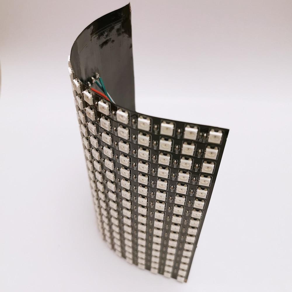 16x16 Pixel WS2812B LED Digital Flexible Individually Addressable Panel Light 16*16 256leds Mini Led Screen Matrix Lamp DC5V