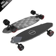 "Maxfind max 2 pro 한정판 전기 스케이트 보드 dark longboard 31 ""23 mph 최고 속도 16 마일 최대 범위 이중 모터"