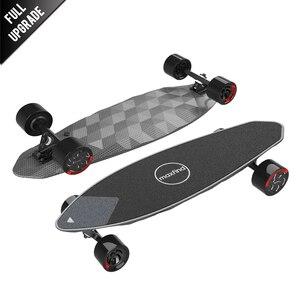 "Image 1 - Maxfind max 2 pro edição limitada skate elétrico longboard escuro 31 ""23 mph velocidade superior 16 milhas max faixa do motor duplo"